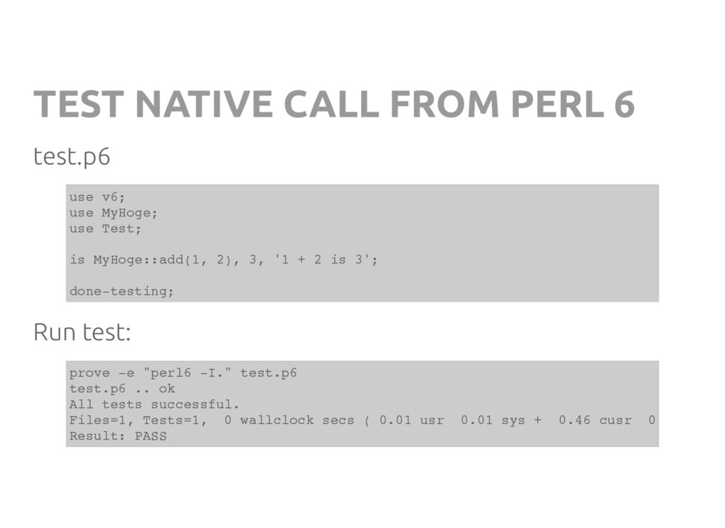 TEST NATIVE CALL FROM PERL 6 test.p6 u s e v 6 ...