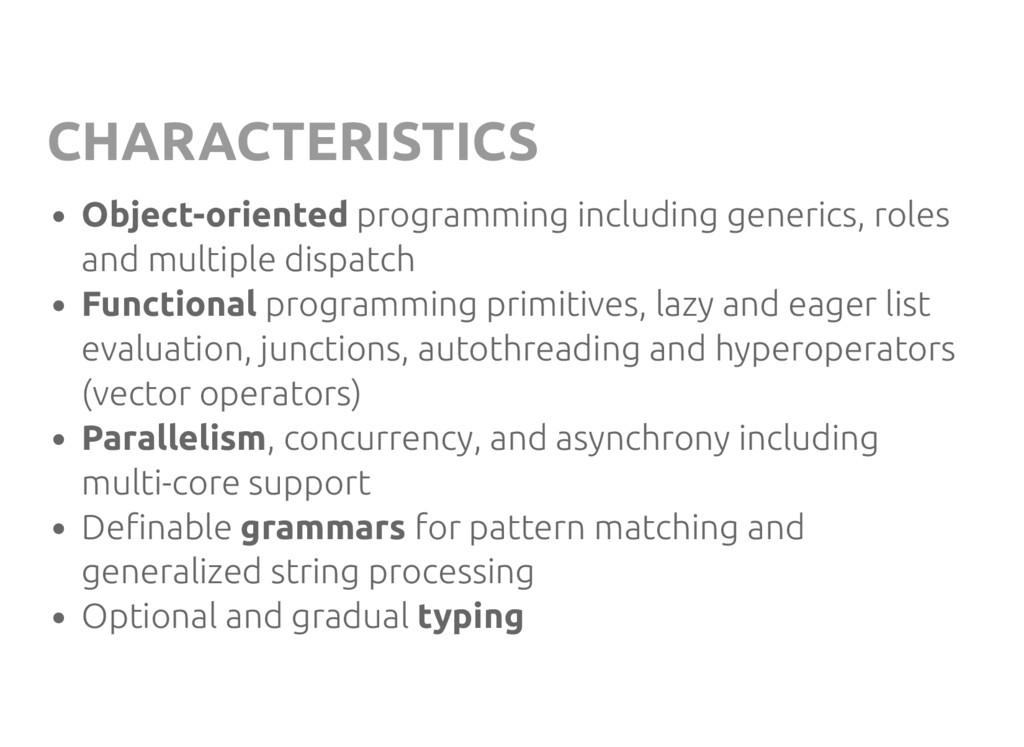 CHARACTERISTICS Object-oriented programming inc...