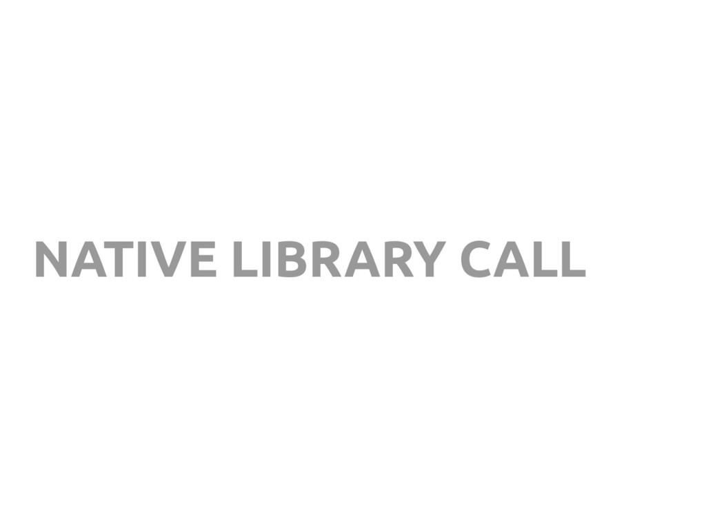 NATIVE LIBRARY CALL