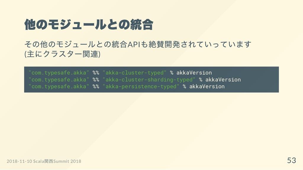 他のモジュールとの統合 その他のモジュールとの統合API も絶賛開発されていっています ( 主...