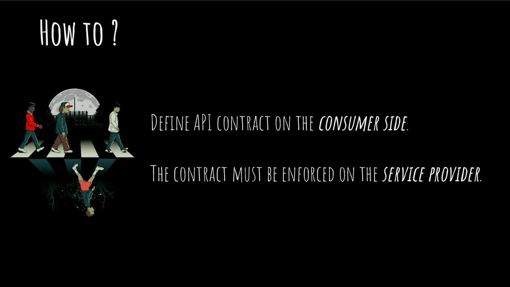 How to ? Define API contract on the consumer sid...