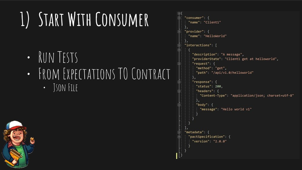 1) Start With Consumer • Run Tests • From Expec...
