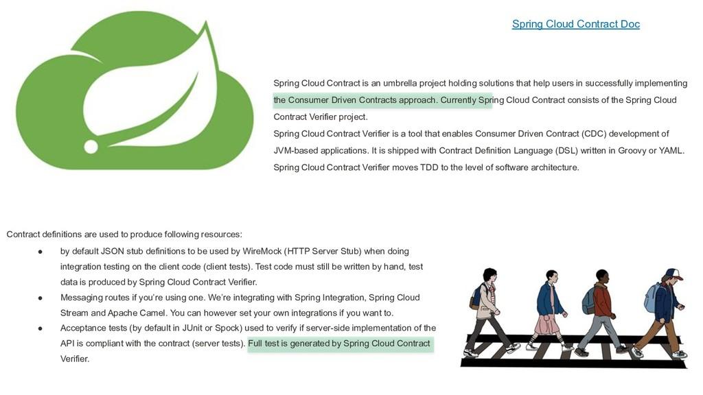 Spring Cloud Contract Doc Spring Cloud Contract...