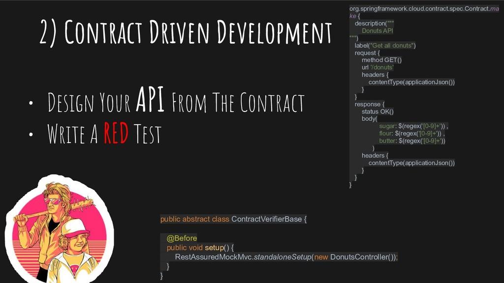 2) Contract Driven Development • Design Your AP...