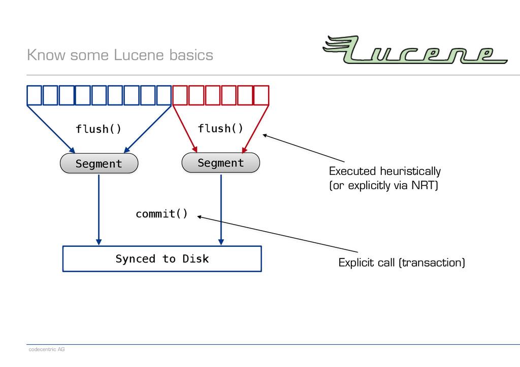 codecentric AG Know some Lucene basics Segment ...