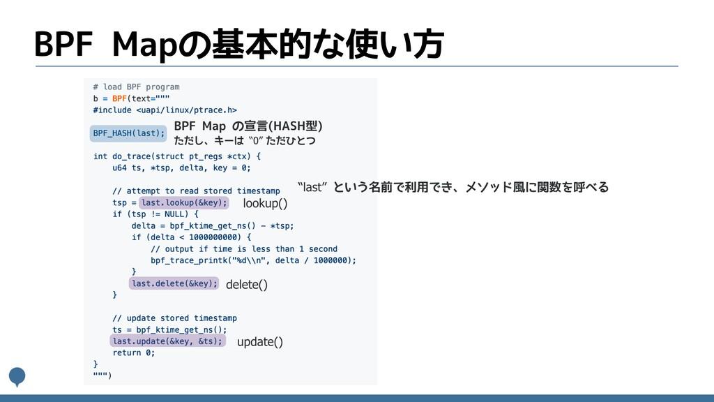 BPF Mapの基本的な使い方