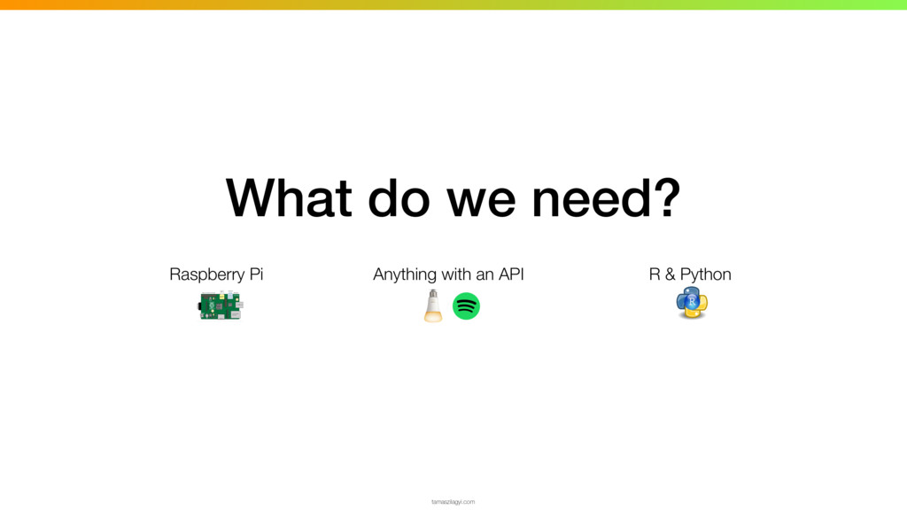 What do we need? Raspberry Pi Anything with an ...