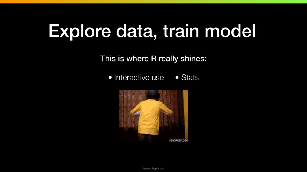 This is where R really shines: • Interactive us...