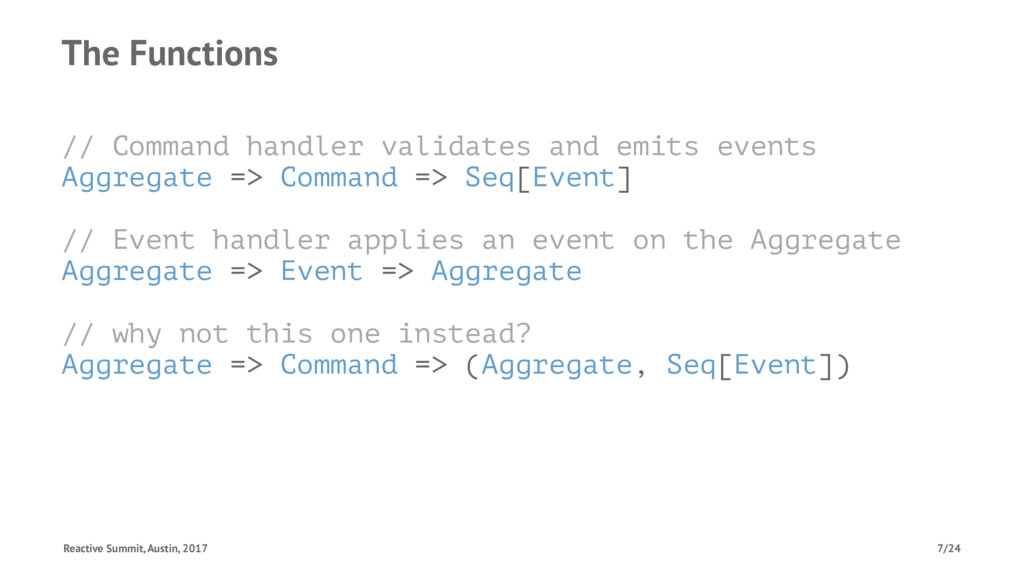 The Functions // Command handler validates and ...