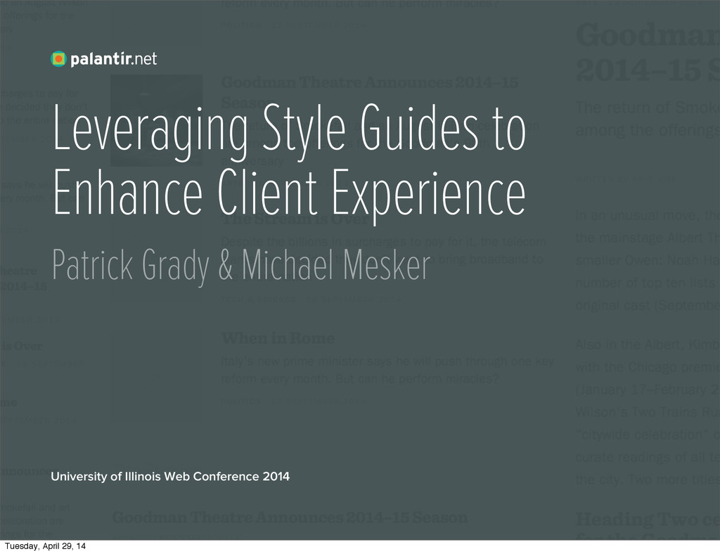 Leveraging Style Guides to Enhance Client Exper...