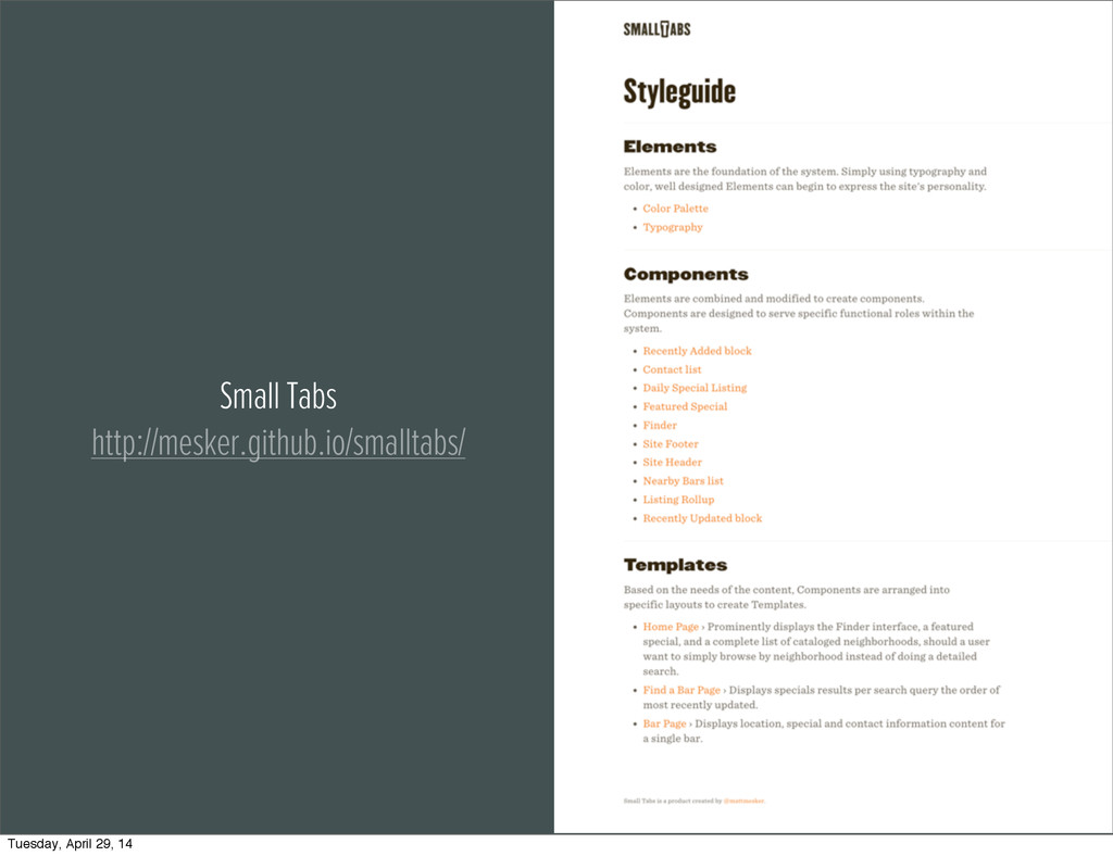 Small Tabs http://mesker.github.io/smalltabs/ T...