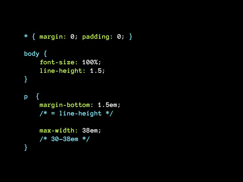 * { margin: 0; padding: 0; } ! body {  font-si...