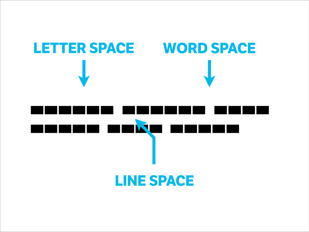 LINE SPACE letter space, word spac, line space ...