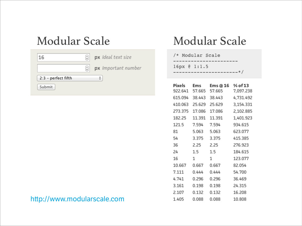 h p://www.modularscale.com