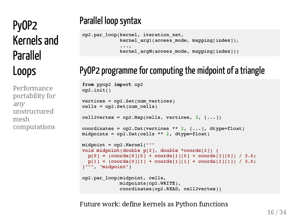 PyOP2 Kernels and Parallel Loops Performance po...