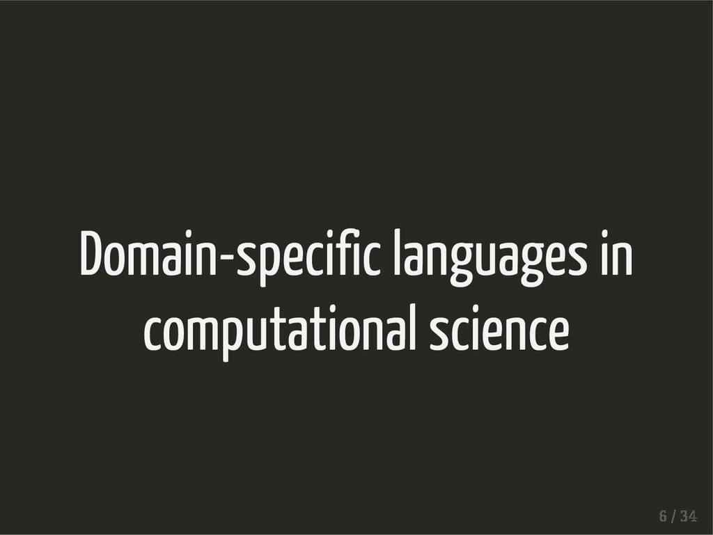 Domain-specific languages in computational scie...