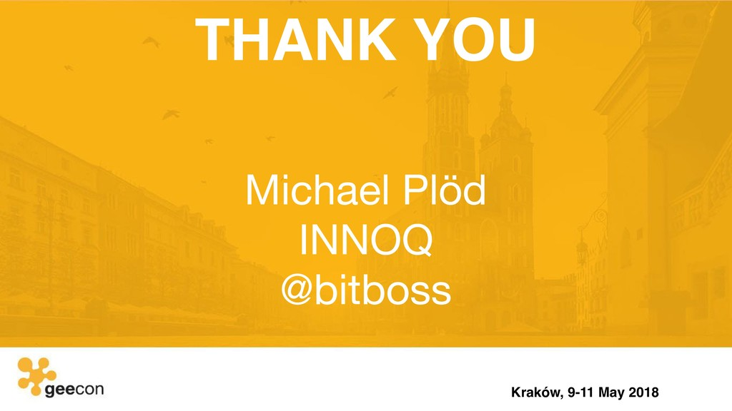 THANK YOU Michael Plöd