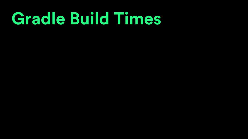 Gradle Build Times