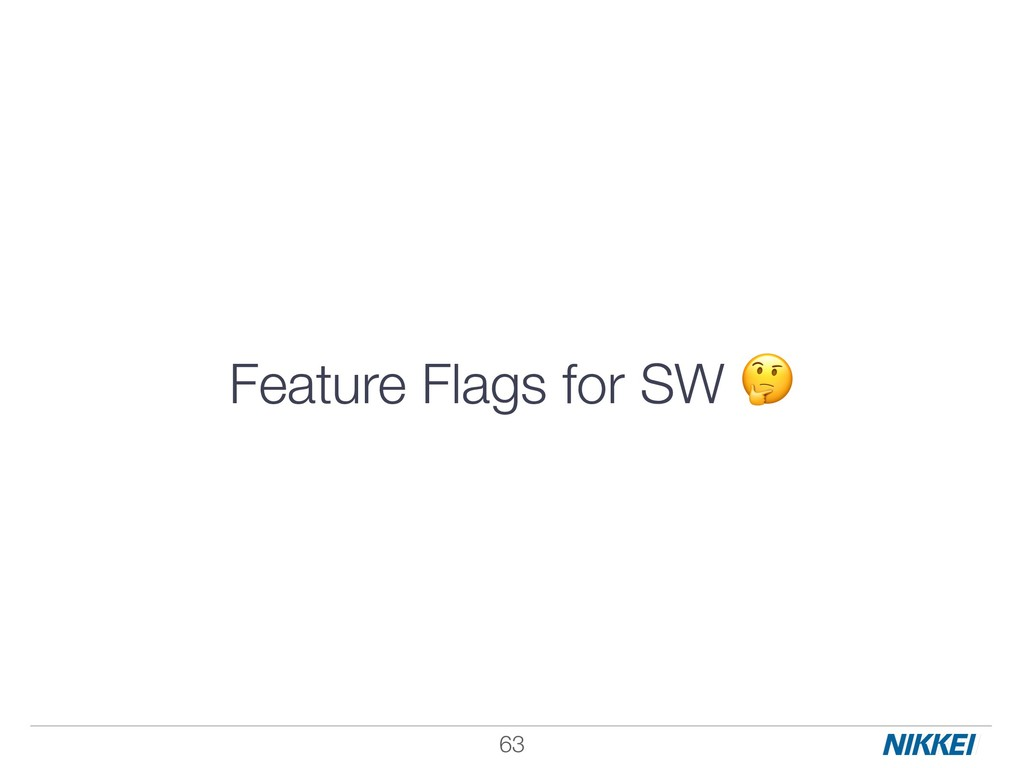 Feature Flags for SW  !63