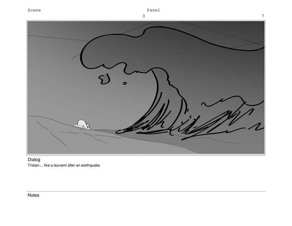 Scene 3 Panel 7 Dialog Tristan:... like a tsuna...