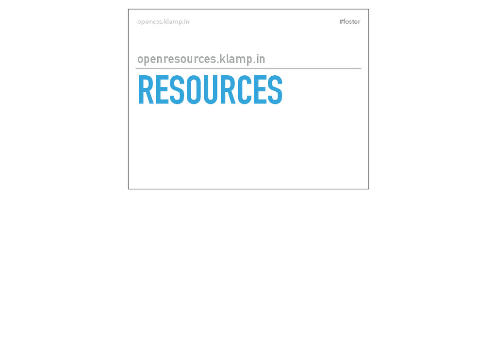 #foster opencss.klamp.in RESOURCES openresource...