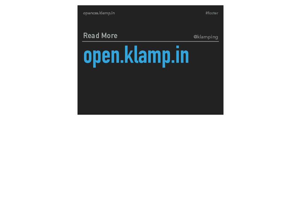#foster opencss.klamp.in open.klamp.in Read Mor...