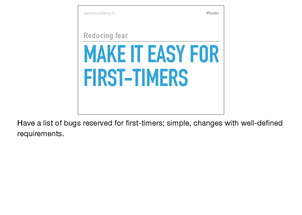 #foster opencss.klamp.in MAKE IT EASY FOR FIRST...