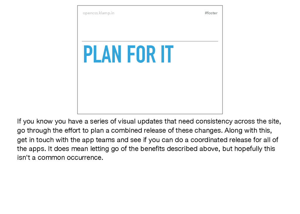 #foster opencss.klamp.in PLAN FOR IT If you kno...