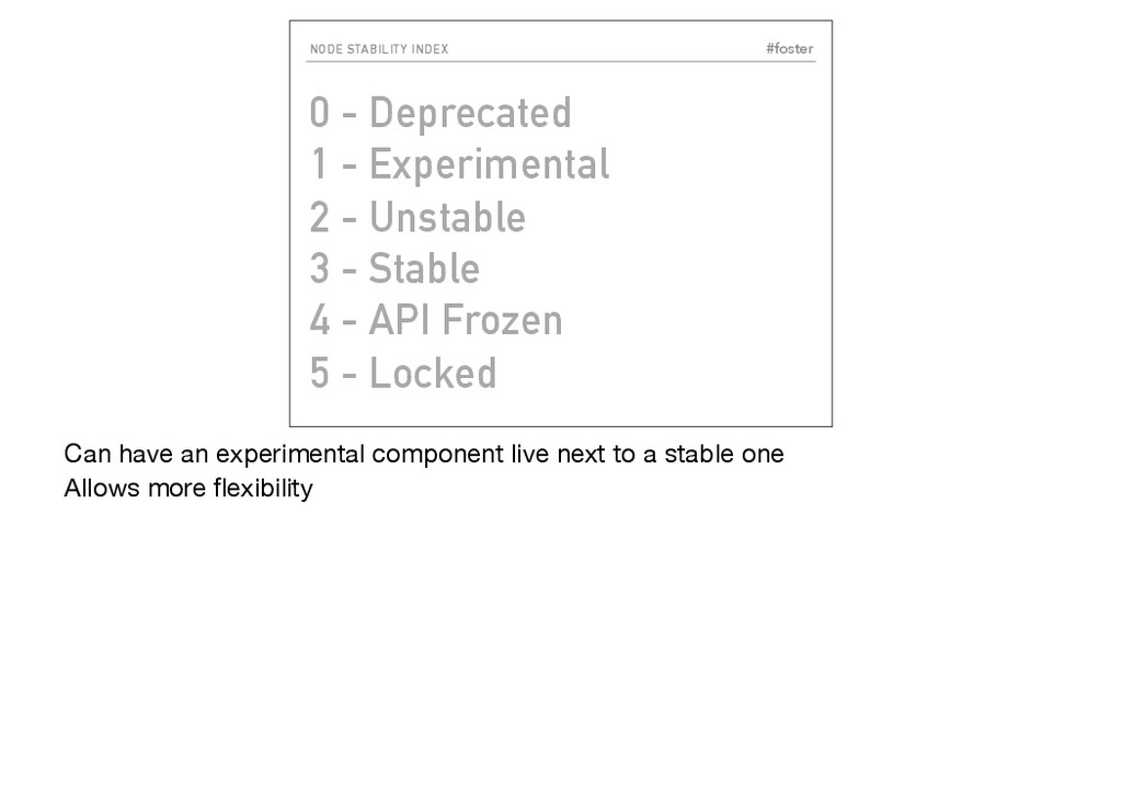 #foster NODE STABILITY INDEX 0 - Deprecated 1 -...