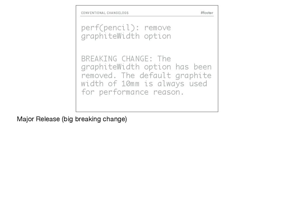 #foster CONVENTIONAL CHANGELOGS perf(pencil): r...