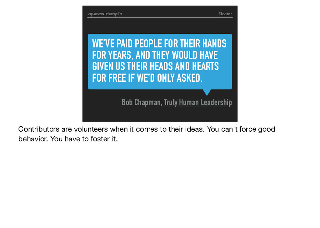 #foster WE'VE PAID PEOPLE FOR THEIR HANDS FOR Y...
