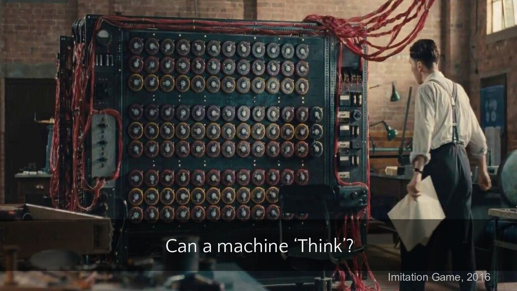 Can a machine 'Think'? Imitation Game, 2016
