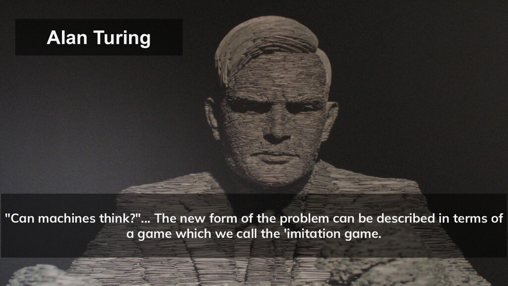 """""""Can machines think?""""... The new form of the pr..."""