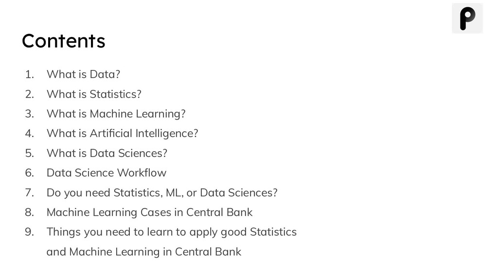Contents 1. What is Data? 2. What is Statistics...