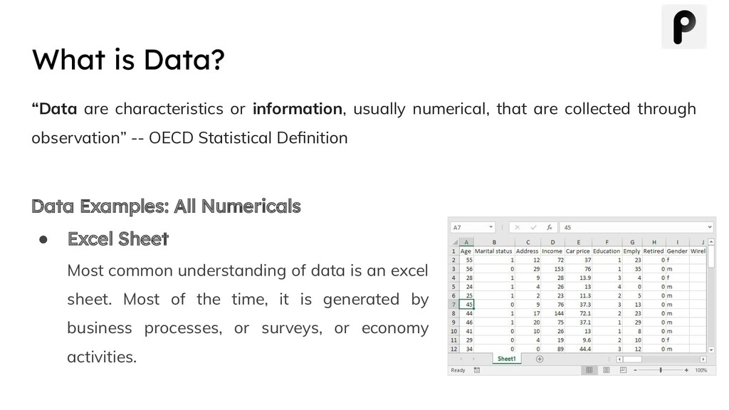 """Data are characteristics or information, usual..."