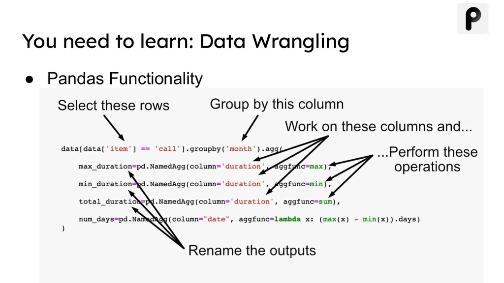 ● Pandas Functionality You need to learn: Data ...