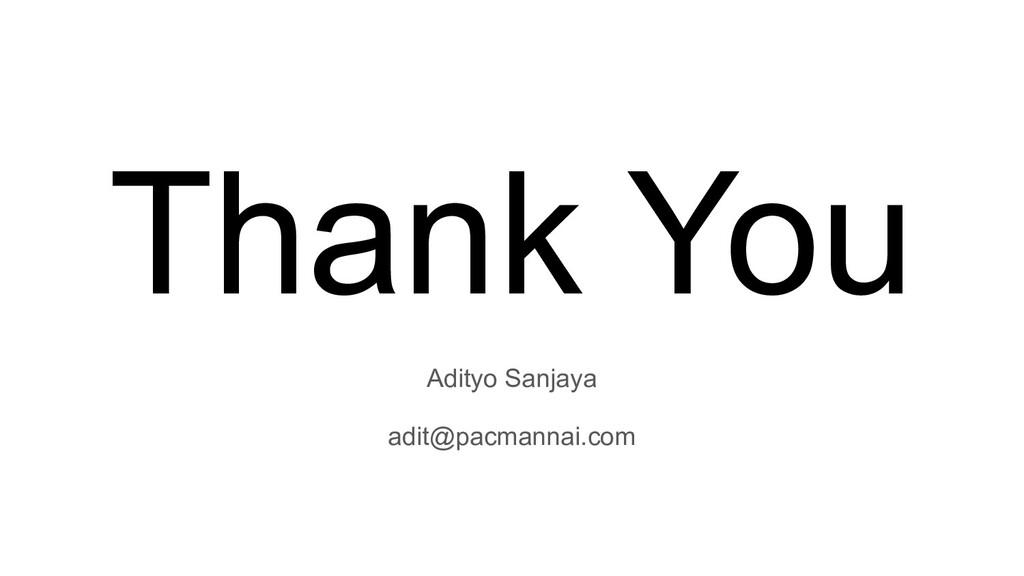 Adityo Sanjaya adit@pacmannai.com Thank You