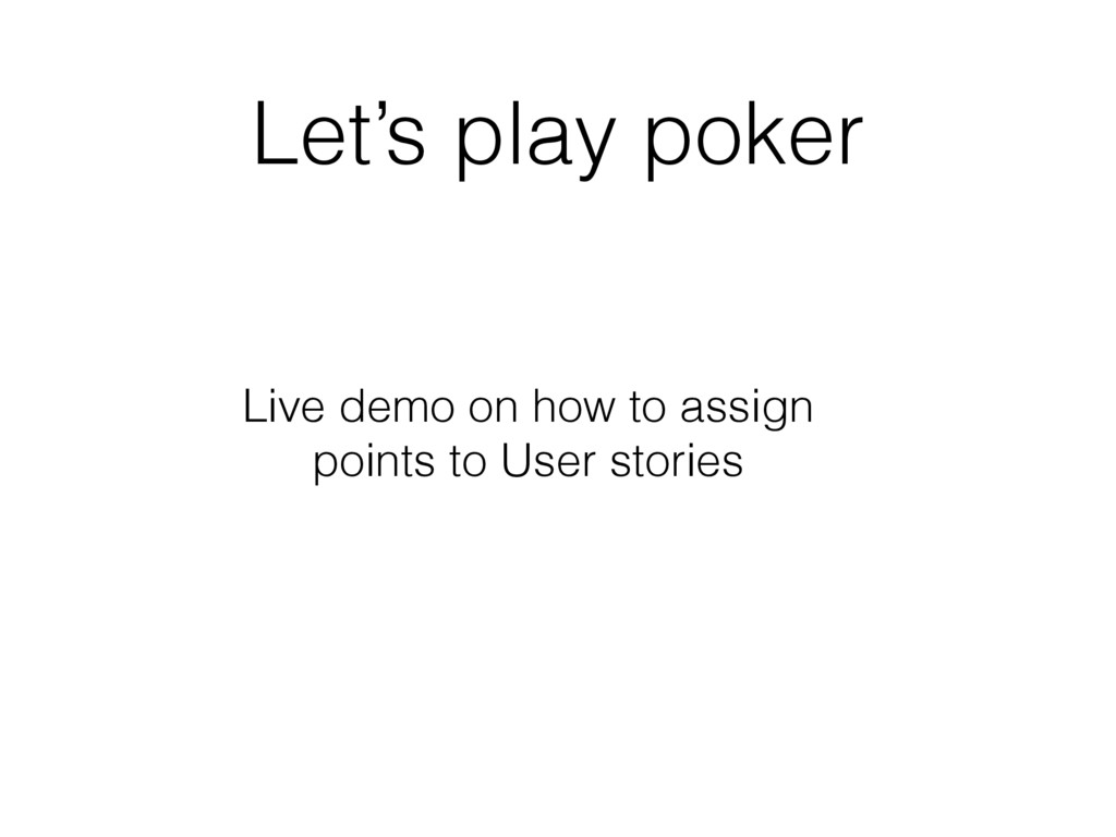 Let's play poker Live demo on how to assign poi...