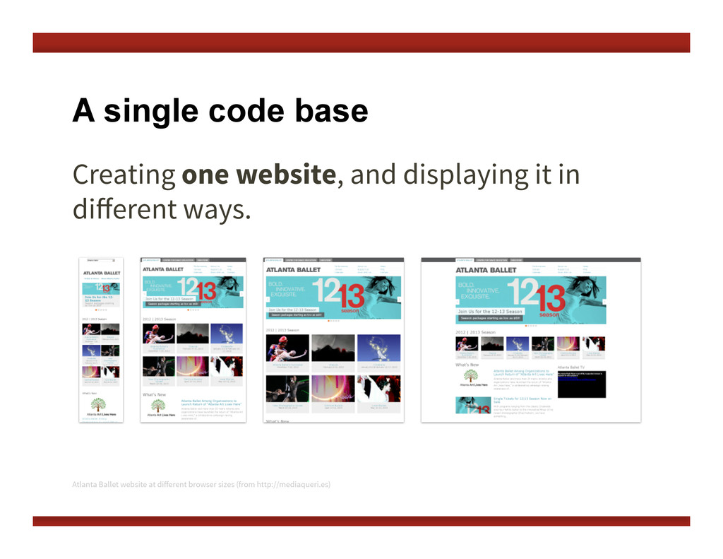 A single code base Creating one website, and di...