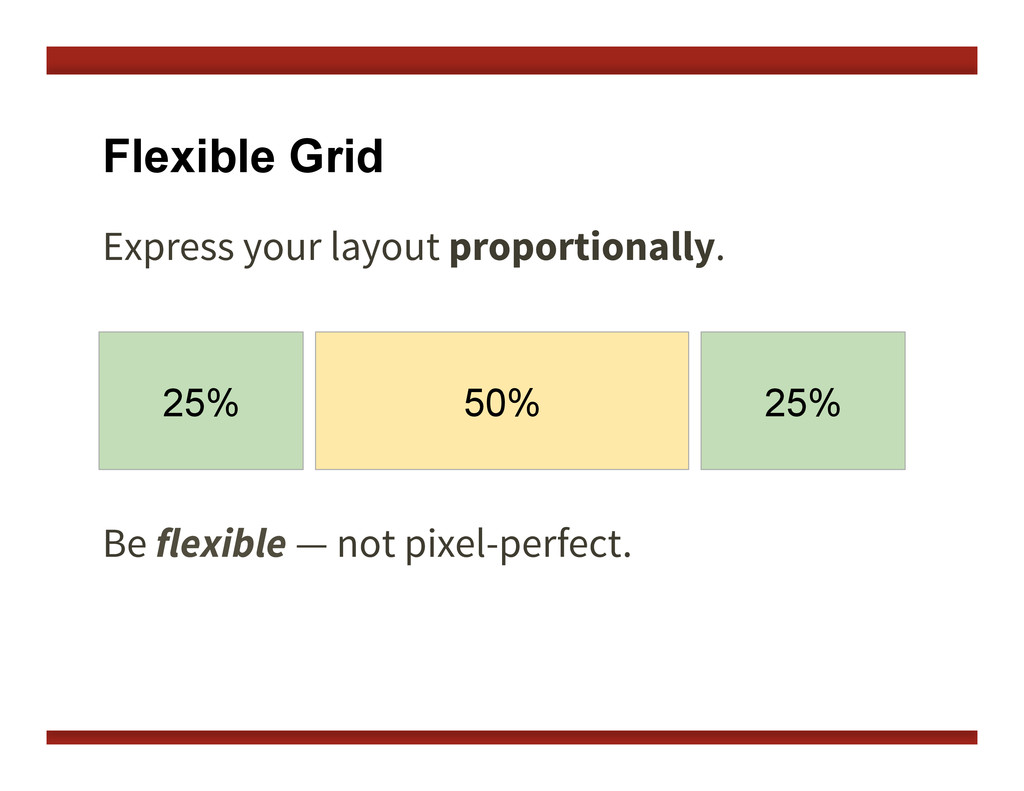 Flexible Grid Express your layout proportionall...