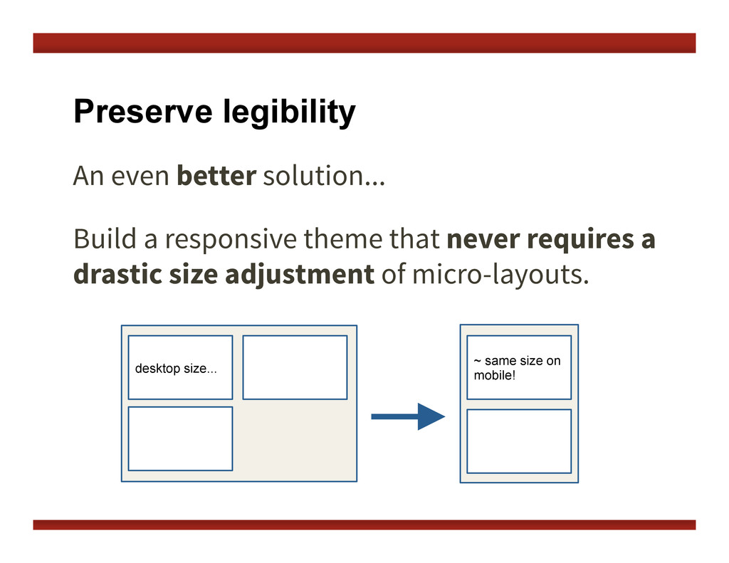 Preserve legibility An even better solution...