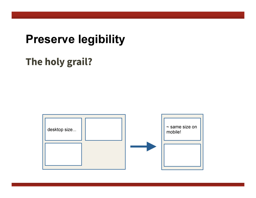 Preserve legibility The holy grail?