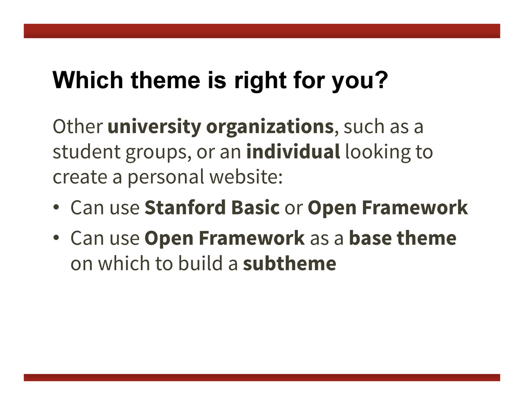 Which theme is right for you? Other university ...