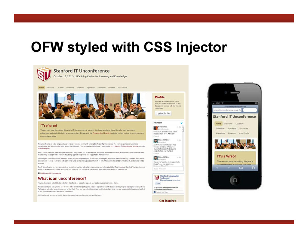 OFW styled with CSS Injector