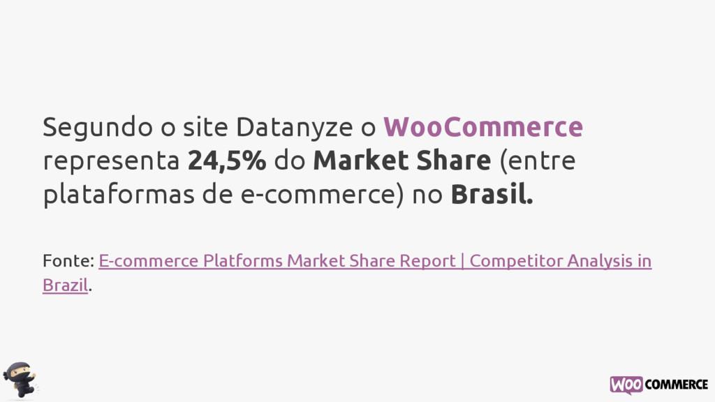Segundo o site Datanyze o WooCommerce represent...