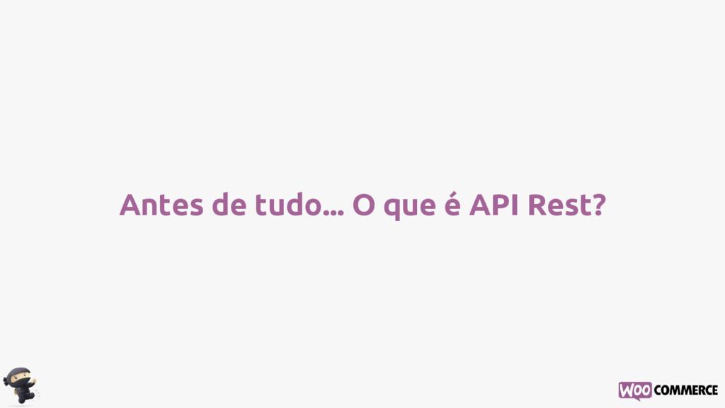 Antes de tudo... O que é API Rest?