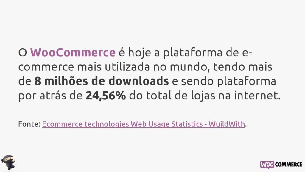 O WooCommerce é hoje a plataforma de e- commerc...
