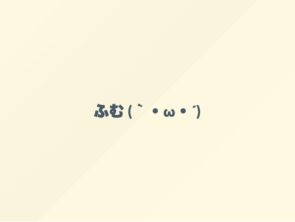 ふむ ( `・ω ・´)