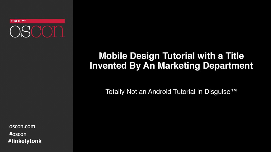 Mobile Design Tutorial with a Title  Invented ...