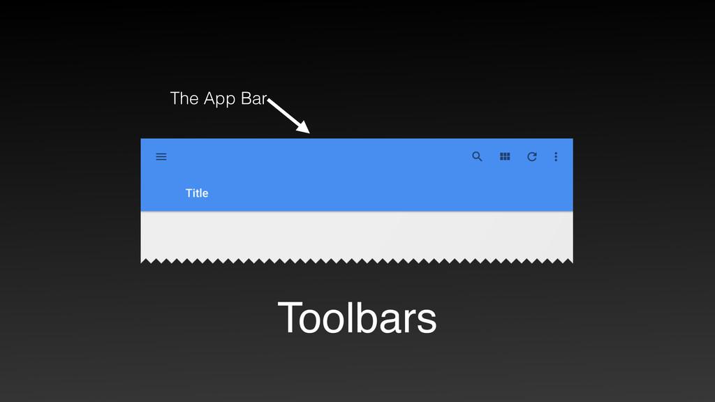 Toolbars The App Bar
